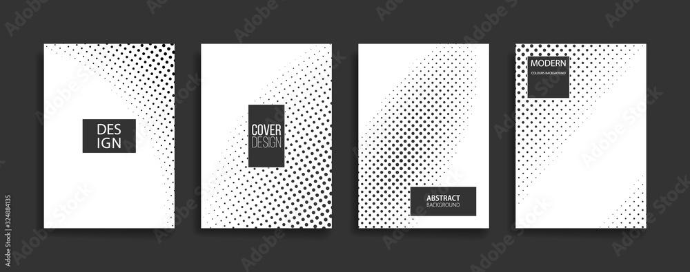 Fototapeta abstract black white halftone background texture. monochrome geometric dot pattern. modern backdrop vector illustration