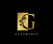 Golden G Luxury Logo Icon, Vin...