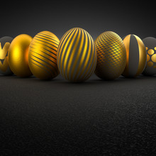 Luxury Easter Eggs With Differ...