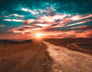 Obraz na Szkle Optyczne powiększenie Da Boa Vista mountain during a beautiful sunset