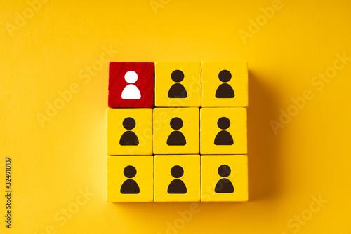 Fotografie, Obraz Business & HR puzzle colorful cube