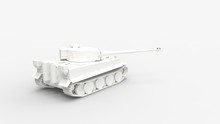 3d Rendering Of A Computer Generated Model Of A Ww2 Tank Isolated