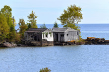 Old Cottage On The Lake Superior Shoreline