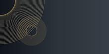 Gold Black Circle Triangle Line Dot Pattern Background For Presentation Design.