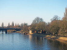 The River Ouse In York With Pe...