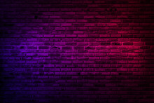 Neon Light On Brick Walls That...