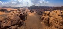 Panoramic Aerial View Of Rocks...