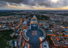 Aerial View Of St. Peter?s Basilica, Vatican City State