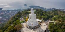 Panoramic Aerial View Of Big Buddha In Phuket - Thailand