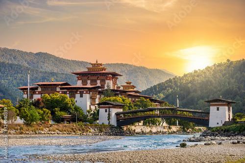 Photo The famous Punakha Dzong in Bhutan