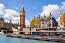 Big Ben Tower And Portcullis H...