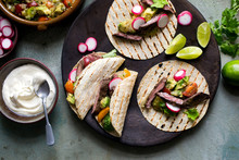 Tacos Filled With Grilled Steak