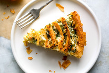 View Of Phyllo With Feta And Herb