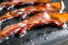 Close Up View Of Roasted Bacon