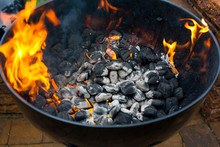 Close Up View Of Barbecue With...