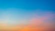 sunset sky on the beach