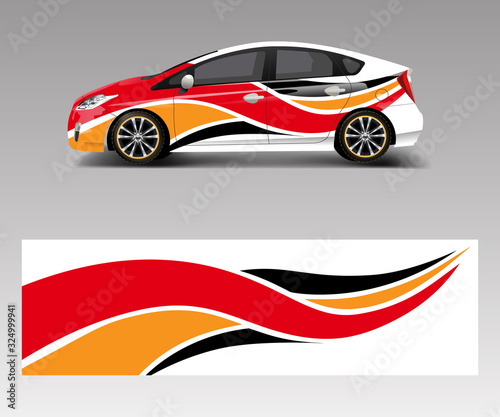 Valokuva Car decal graphic vector wrap vinyl sticker