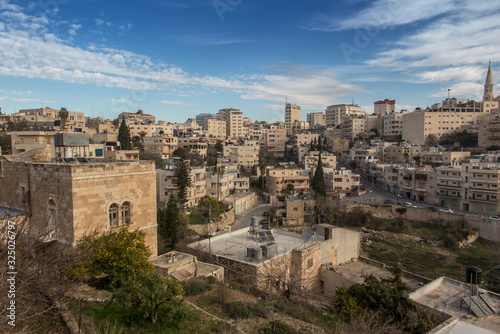 Fototapeta View of Bethlehem in the Palestinian Authority from the Hill of David