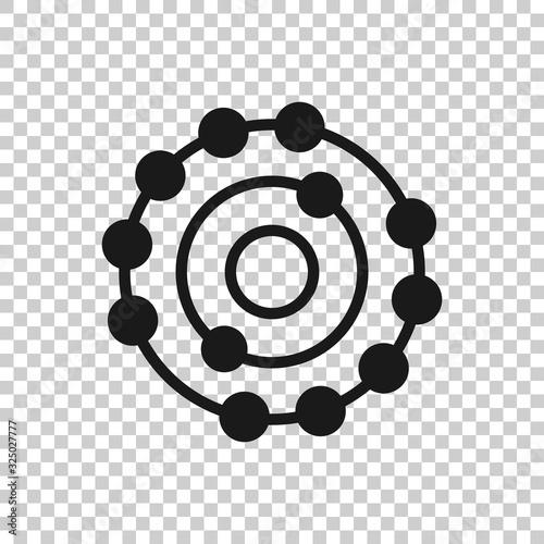 Fototapeta Antioxidant icon in flat style. Molecule vector illustration on white isolated background. Detox business concept. obraz