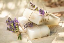 Natural Cubes Of Lavender Soap...