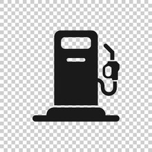 Fuel Pump Icon In Flat Style. ...