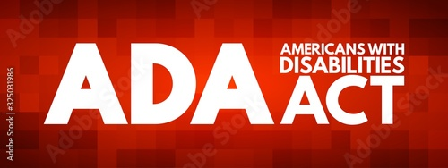 ADA - Americans with Disabilities Act acronym, concept background Canvas Print
