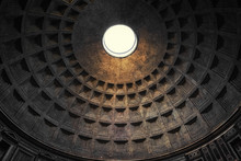The Dome Of Pantheon In Rome