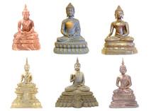 Set Of Buddha Statue Isolated ...