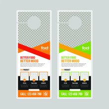 Restaurant Door Hanger Design Template