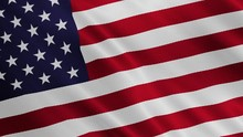 USA Flag Is Waving. United Sta...