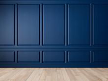 Classic Blue Interior Blank Wa...