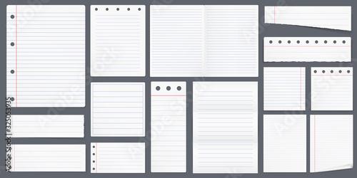 Fototapeta Lined Paper