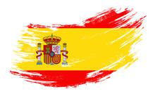 Spanish Flag Grunge Brush Back...