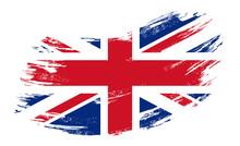Great Britain Flag Grunge Brus...