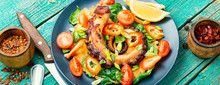 Salad With Vegetables And Octopus