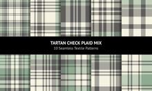 Plaid Pattern Set. Seamless He...