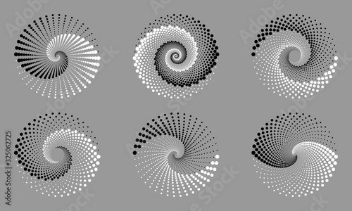 Abstract dotted vector background Slika na platnu