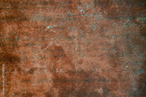 Fototapety, obrazy: Texture of old wooden table with scratches and stains. Burgundy vintage background.