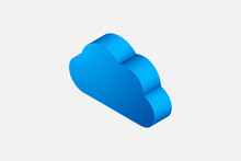 Cloud Icon In Isometric Style,...