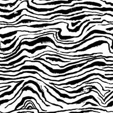 Vector Illustration Tiger Print Seamless Pattern. Zebra White And Black Hand Drawn Background.