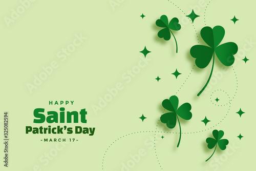 Carta da parati green saint patricks day festival elegant banner
