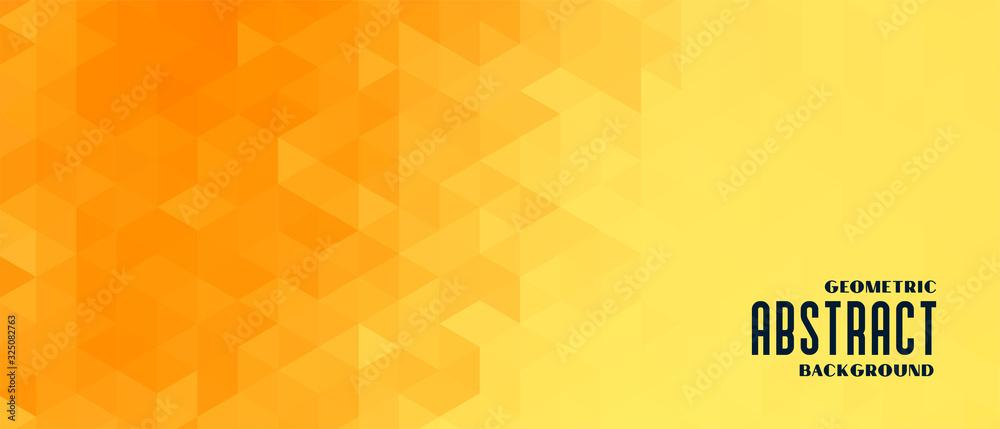 Fototapeta abstract yellow geometric pattern banner design