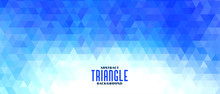 Abstract Triangle Blue Pattern Shape Banner Design