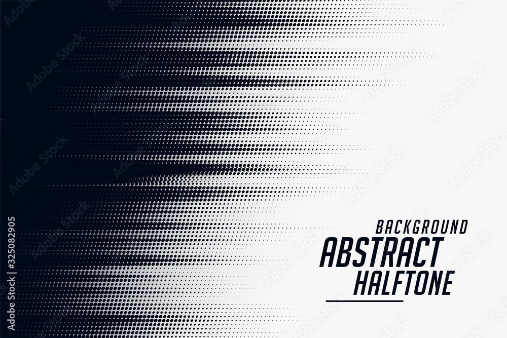 Fototapeta black and white halftone speed pattern background