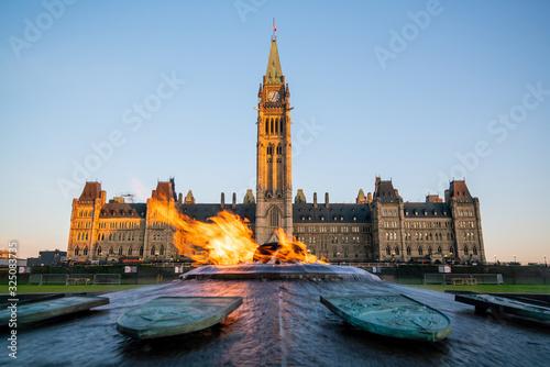 Obraz Parliament Hill in Ottawa, Ontario, Canada - fototapety do salonu