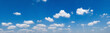 Leinwandbild Motiv panorama blue sky with white cloud background nature view
