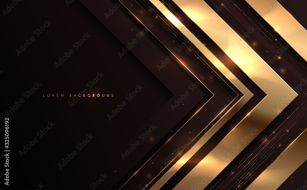 Fototapeta Abstract black and gold luxury background