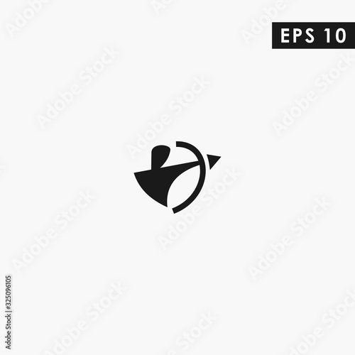 Archer Modern Logo Design Vector Template With Flat Style Wallpaper Mural