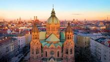 Munich Skyline Aerial View Fro...
