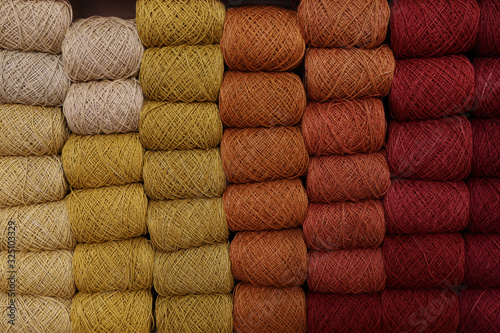 Photo yarn dyed with natural colors